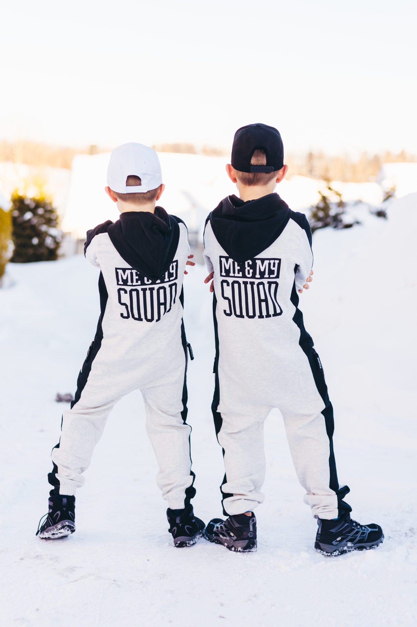Squad jumpsuit kids – White